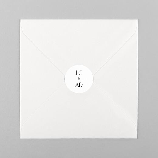 Stickers pour enveloppes mariage Empreinte blanc - Vue 1