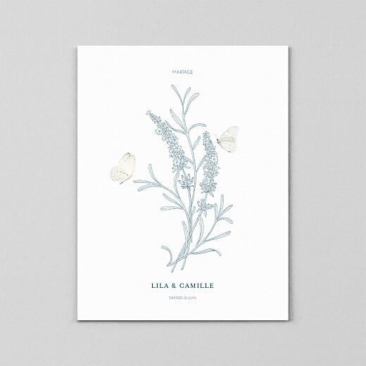 Faire-part de mariage Botanique portrait (calque) bleu - Vue 2