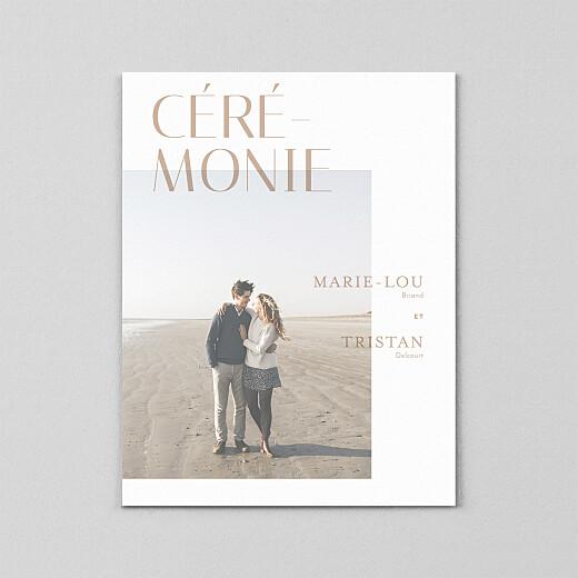 Faire-part de mariage Capitale (calque) ocre - Vue 2
