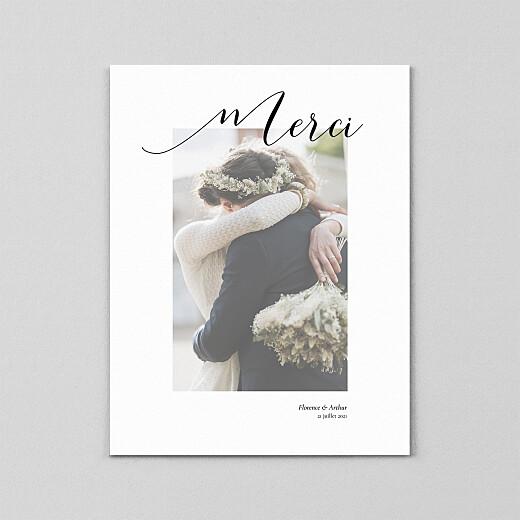 Carte de remerciement mariage Grand dévoilé (calque) blanc - Vue 2