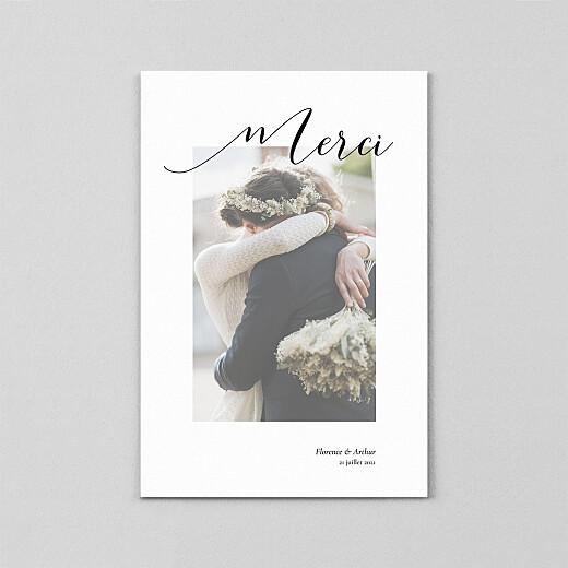 Carte de remerciement mariage Dévoilé (calque) blanc - Vue 2
