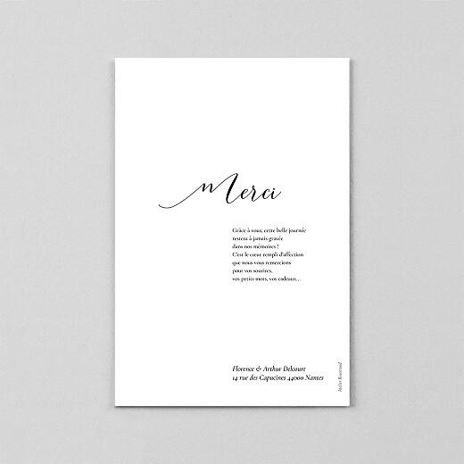Carte de remerciement mariage Dévoilé (calque) blanc - Vue 3