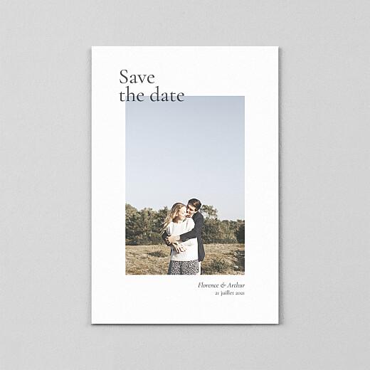 Save the Date Sobre petit portrait (calque) blanc - Vue 2