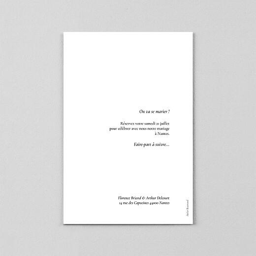 Save the Date Sobre petit portrait (calque) blanc - Vue 3