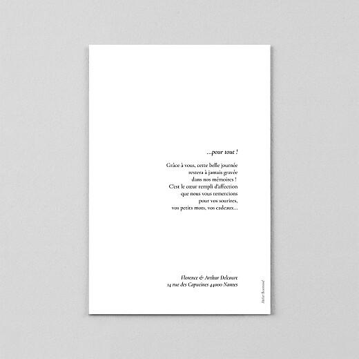 Carte de remerciement mariage Sobre petit portrait (calque) blanc - Vue 3