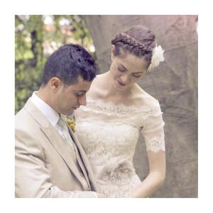 Carte de remerciement mariage Souvenir 1 photo blanc