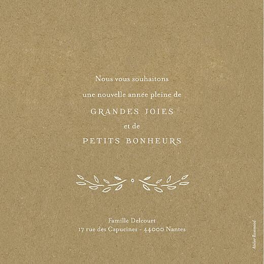 Carte de voeux Poème recto-verso kraft - Page 2