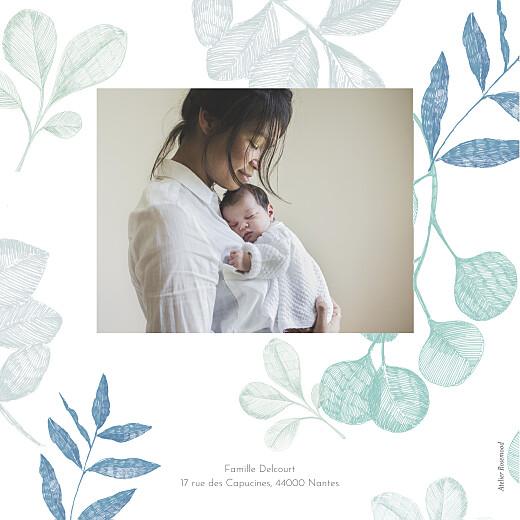 Faire-part de naissance Feuillaison bleu - Page 4