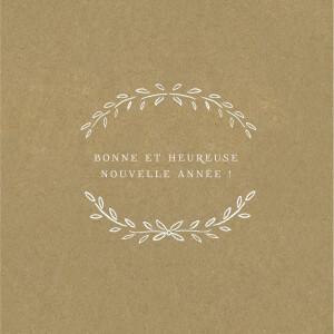 Carte de voeux Poème 2 photos kraft