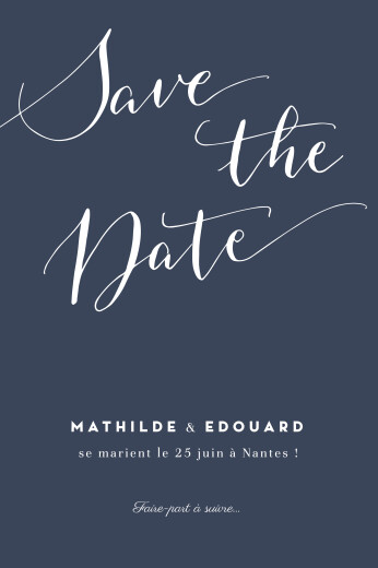 Save the Date Swing bleu marine