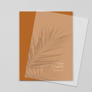 Faire-part de mariage Songe méditerranéen (calque) palmier