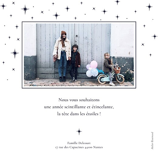 Carte de voeux Sous les étoiles bleu nuit - Page 2