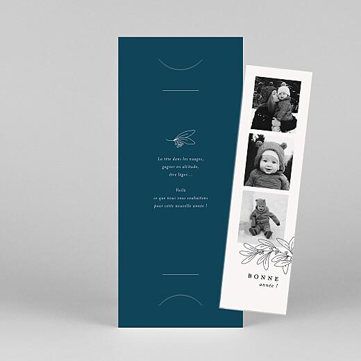 Carte de voeux Jeune pousse (marque-page) bleu - Vue 1