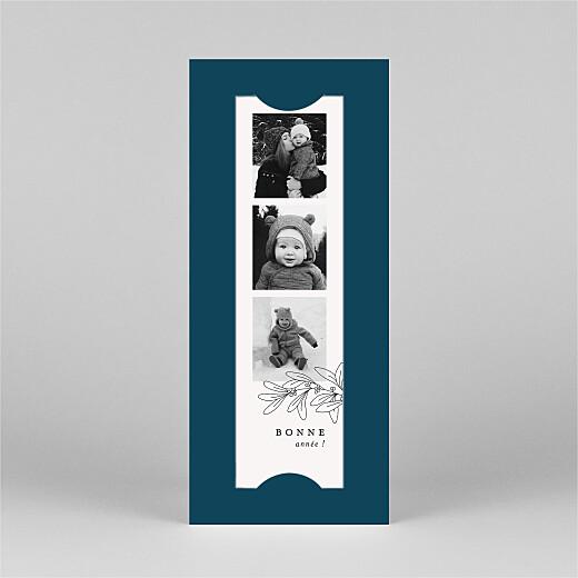 Carte de voeux Jeune pousse (marque-page) bleu - Vue 2