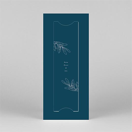 Carte de voeux Jeune pousse (marque-page) bleu - Vue 3