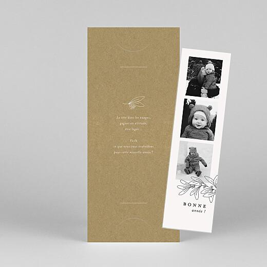 Carte de voeux Jeune pousse (marque-page) kraft - Vue 1