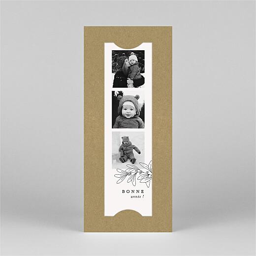 Carte de voeux Jeune pousse (marque-page) kraft - Vue 2