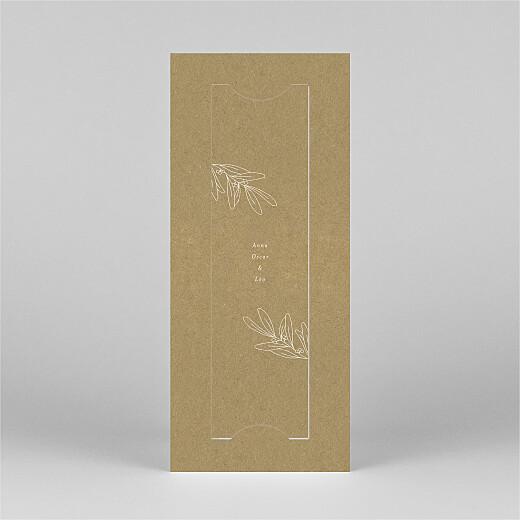 Carte de voeux Jeune pousse (marque-page) kraft - Vue 3