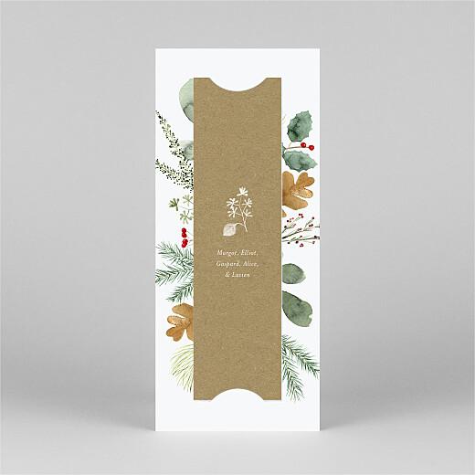 Carte de voeux Feuillage aquarelle (marque-page) blanc - Vue 3