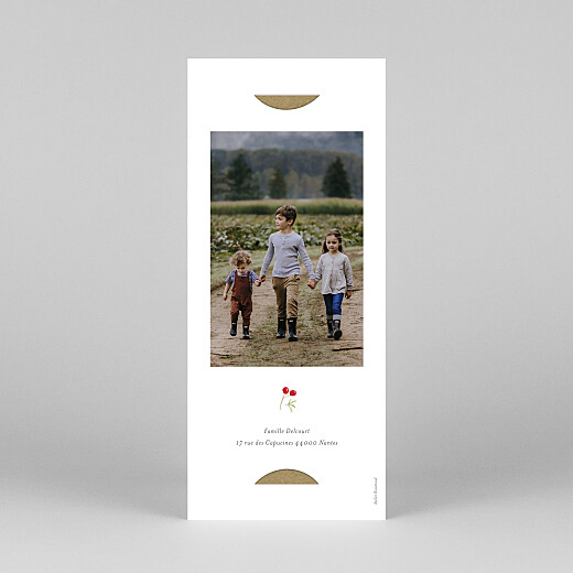 Carte de voeux Feuillage aquarelle (marque-page) blanc - Vue 4