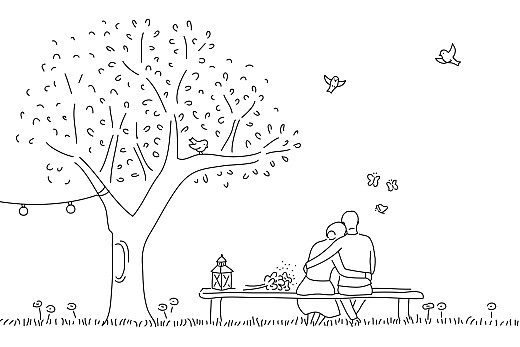 Carton d'invitation mariage Promesse bohème (petite) blanc - Page 2