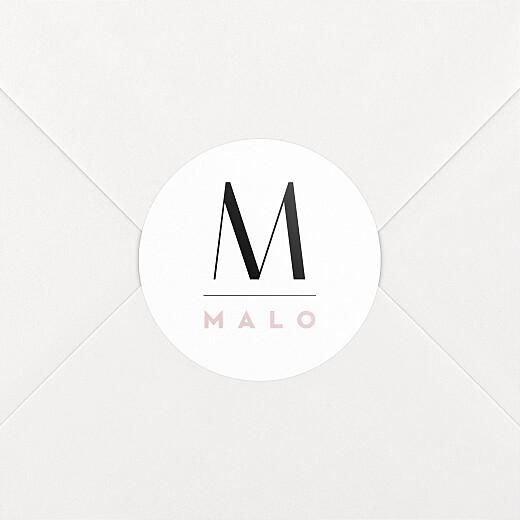 Stickers pour enveloppes naissance Trait de caractère rose - Vue 2