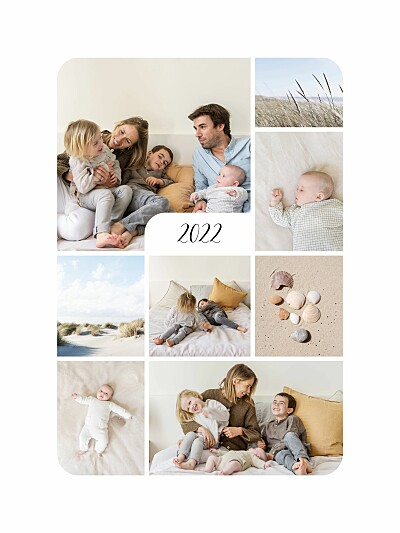 Affiche Tendre innocence (8 photos) blanc finition