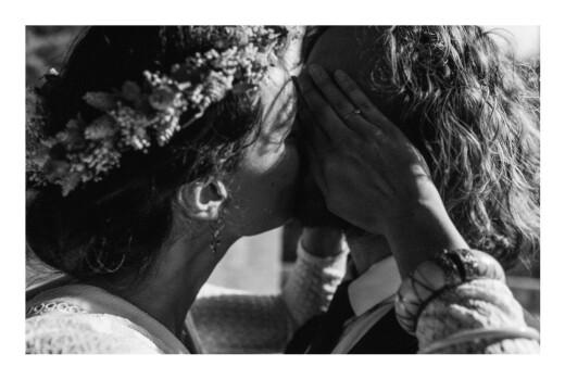 Carte de remerciement mariage Swing (4 pages) marine