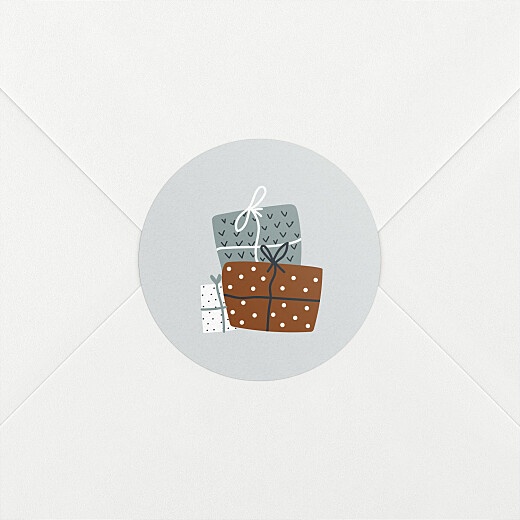 Stickers pour enveloppes vœux Winter gifts blanc - Vue 2