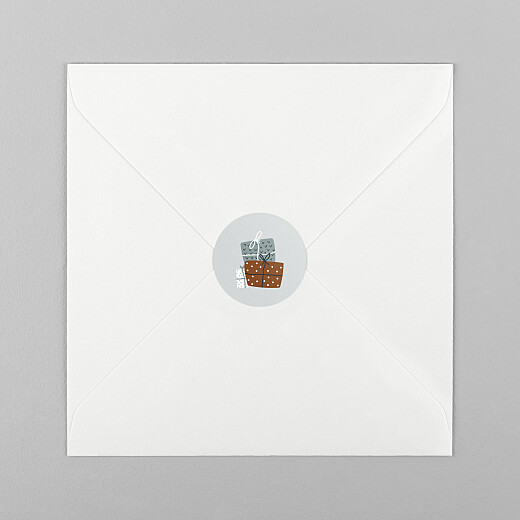 Stickers pour enveloppes vœux Winter gifts blanc - Vue 1