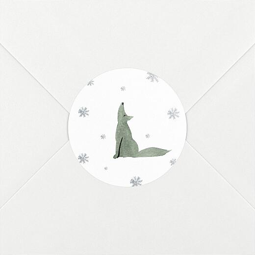 Stickers pour enveloppes vœux Toundra loup - Vue 2