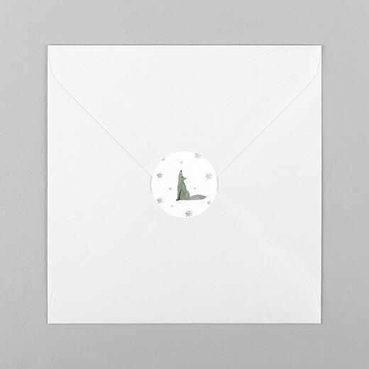 Stickers pour enveloppes vœux Toundra loup - Vue 1