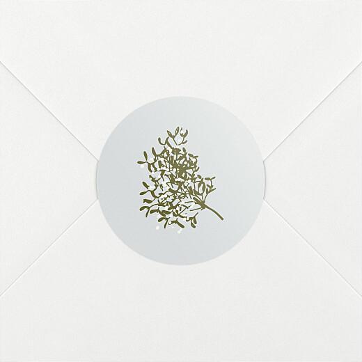 Stickers pour enveloppes vœux Winter snow bleu - Vue 2
