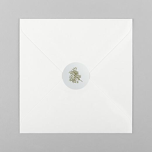 Stickers pour enveloppes vœux Winter snow bleu - Vue 1