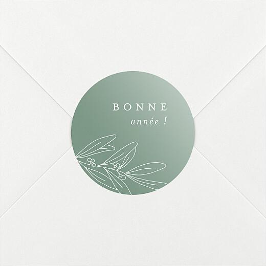Stickers pour enveloppes vœux Jeune pousse vert - Vue 2