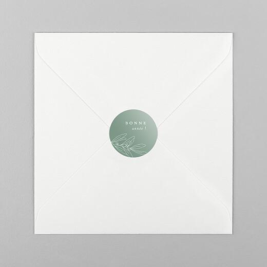 Stickers pour enveloppes vœux Jeune pousse vert - Vue 1