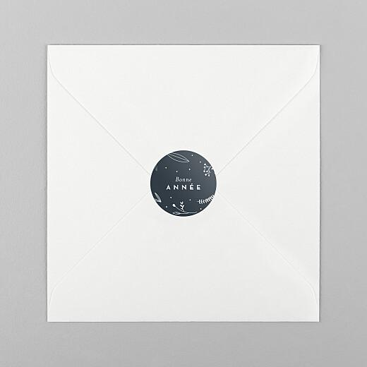 Stickers vœux Élégant feuillage bleu - Vue 1