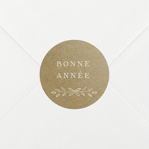 Stickers pour enveloppes vœux Poème kraft - Vue 2