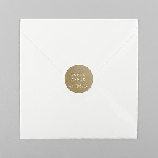 Stickers pour enveloppes vœux Poème kraft - Vue 1