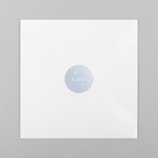 Stickers pour enveloppes naissance Sous les étoiles bleu - Vue 1