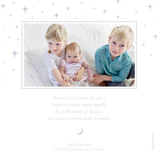 Faire-part de naissance Sous les étoiles bleu - Page 2