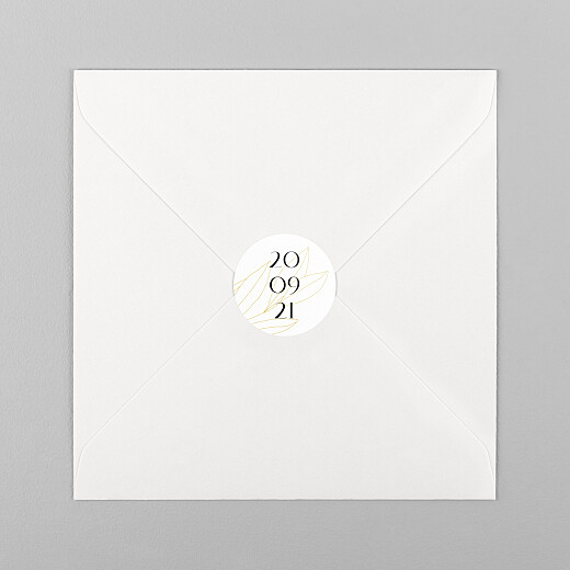 Stickers Naissance Saison jaune - Vue 1