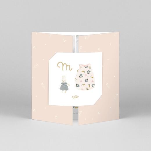 Faire-part de naissance Doux rêves (fenêtre) rose - Vue 1