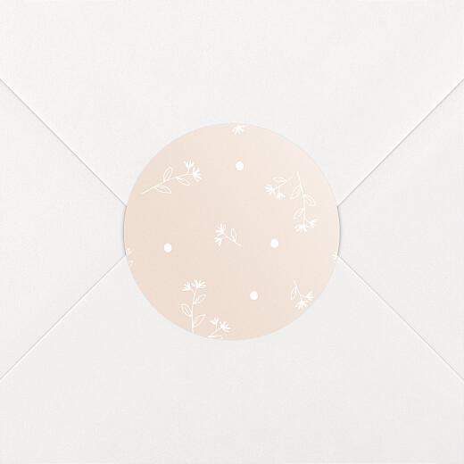 Stickers pour enveloppes naissance Doux rêves rose - Vue 2