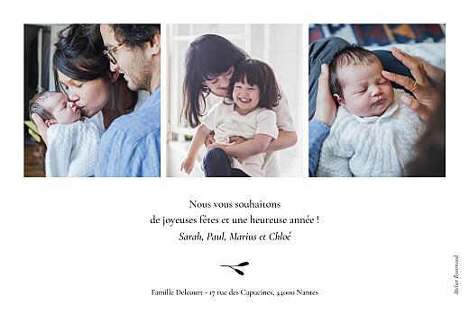 Carte de voeux Bouquet de vœux (dorure) bleu canard - Page 2
