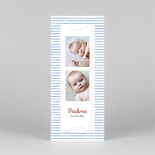 Faire-part de naissance Petits bols (marque-page) (3 enfants) bleu - Vue 3