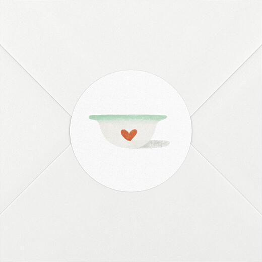 Stickers pour enveloppes naissance Petits bols vert - Vue 2