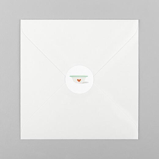 Stickers pour enveloppes naissance Petits bols vert - Vue 1