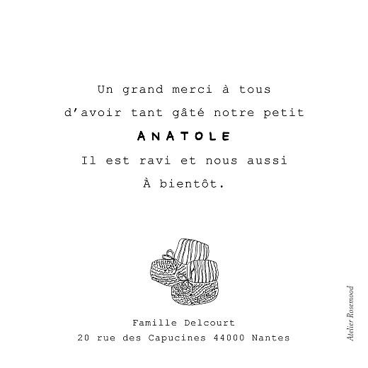 Carte de remerciement Mon petit soulier blanc - Page 2