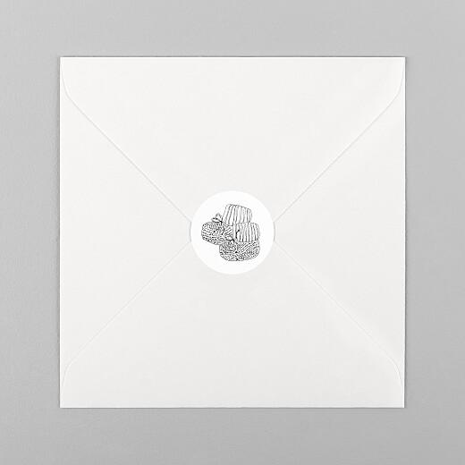 Stickers pour enveloppes naissance Mon petit soulier blanc - Vue 1